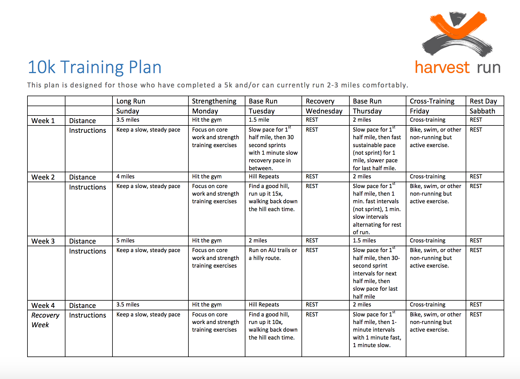 Harvest run office of alumni services download training plan xflitez Image collections